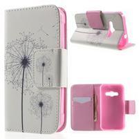 Vzorové peňaženkové puzdro na Samsung Galaxy Xcover 3 - odkvitnutá púpava