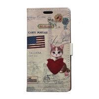 Peňaženkové púzdro pre Samsung Galaxy Xcover 3 - mačiatko