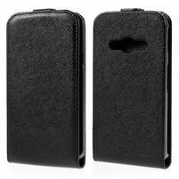 Flipové koženkové puzdro na Samsung Galaxy Xcover 3 - čierne