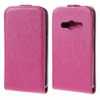Flipové koženkové puzdro na Samsung Galaxy Xcover 3 - ružové