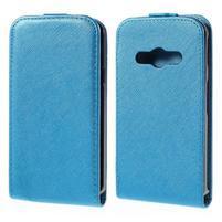 Flipové koženkové puzdro pre Samsung Galaxy Xcover 3 - modré
