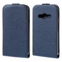Flipové koženkové puzdro pre Samsung Galaxy Xcover 3 - tmavomodré