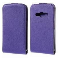 Flipové koženkové puzdro na Samsung Galaxy Xcover 3 - fialové