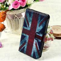 Štýlové peňaženkové puzdro pre Samsung Galaxy Xcover 3 - UK vlajka