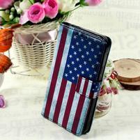 Štýlové peňaženkové puzdro pre Samsung Galaxy Xcover 3 -  US vlajka