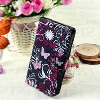 Štýlové peňaženkové puzdro pre Samsung Galaxy Xcover 3 - motýle