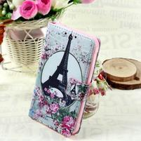Štýlové peňaženkové puzdro pre Samsung Galaxy Xcover 3 - Eiffelova veža