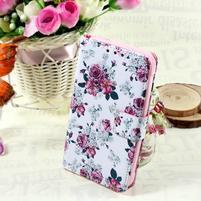 Štýlové peňaženkové puzdro pre Samsung Galaxy Xcover 3 - kvetinová koláž