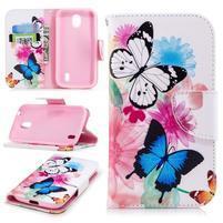 Emotive peňaženkové puzdro na Nokia 1 - kvetiny a motýle