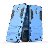 Defender odolný obal so stojančekom na Nokia 2 - modrý