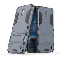 Defender odolný obal so stojančekom na Nokia 2 - tmavomodrý