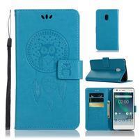 Dream PU kožené flipové puzdro na Nokia 2.1 - modré