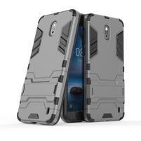 Defender odolný obal so stojančekom na Nokia 2 - sivý
