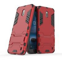 Defender odolný obal so stojančekom na Nokia 2 - červený
