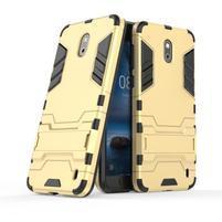 Defender odolný obal so stojančekom na Nokia 2 - zlatý