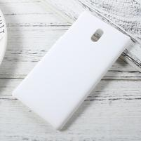 Pogumovaný plastový obal na mobil Nokia 3 - biely
