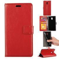 Crazy PU kožené puzdro na mobil Nokia 3 - červené