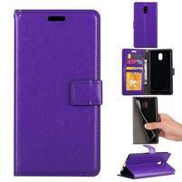 Crazy PU kožené puzdro na mobil Nokia 3 - fialové