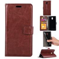 Crazy PU kožené puzdro na mobil Nokia 3 - hnedé