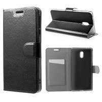 Horse PU kožené puzdro na mobil Nokia 3 - čierne