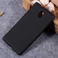 Matný gélový obal na Nokia 3 - čierny