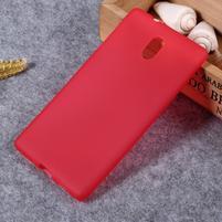 Matný gélový obal na Nokia 3 - červený