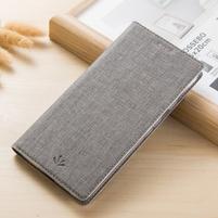 Klopové PU kožené puzdro na mobil Nokia 3310 (2017) - sivé