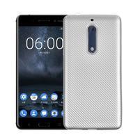 CarboSoft gélový obal na Nokia 5 - strieborný