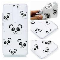 Print silikónový obal na mobil Nokia 5.1 - panda