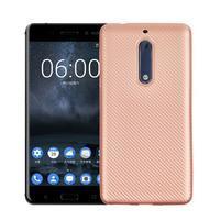 CarboSoft gélový obal na Nokia 5 - ružovozlatý