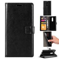 Wallet PU kožené knižkové puzdro na Nokia 5 - čierne