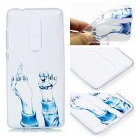 Print silikónový obal na mobil Nokia 5.1 - neslušné gesto