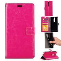 Wallet PU kožené knižkové puzdro na Nokia 5 - rose