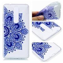 Print silikónový obal na mobil Nokia 5.1 - modrý lotus
