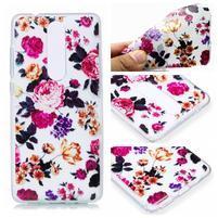 Print silikónový obal na mobil Nokia 5.1 - farebné kvety