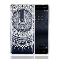 Mandala hybridný gélový obal na Nokia 5 - biely