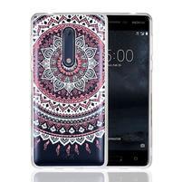 Mandala hybridný gélový obal na Nokia 5 - ružový
