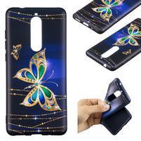 Patt gélový kryt pre Nokia 5.1 - trblietavý motýľ
