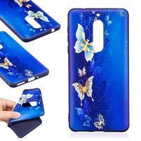 Patt gélový obal na Nokia 5 - modré motýliky