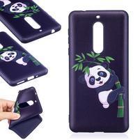 Patt gélový obal na Nokia 5 - panda na vetvičke