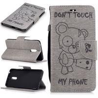 BadBeer peňaženkové puzdro pre Nokia 6 - sivé
