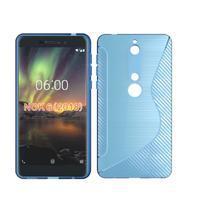 S-line silikónový kryt na mobil Nokia 6.1 - modrý