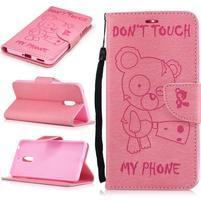 BadBeer peňaženkové puzdro pre Nokia 6 - ružové