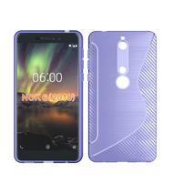 S-line silikónový kryt na mobil Nokia 6.1 - fialový