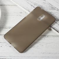 Matný gélový obal pre mobil Nokia 6 - sivý