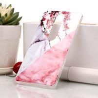 Marble silikónový kryt na mobil Nokia 6.1 - ružový kvet