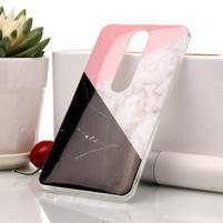Marble silikónový kryt na mobil Nokia 6.1 - trojfarebný