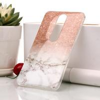 Marble silikónový kryt na mobil Nokia 6.1 - oranžovosivý