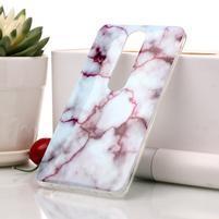 Marble silikónový kryt na mobil Nokia 6.1 - fialový