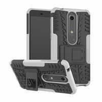 Outdoor odolný obal so stojančekom na Nokia 6.1 - biely